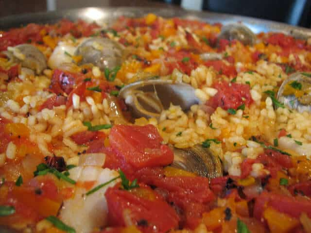 Traditional Spanish Mixed Seafood Paella