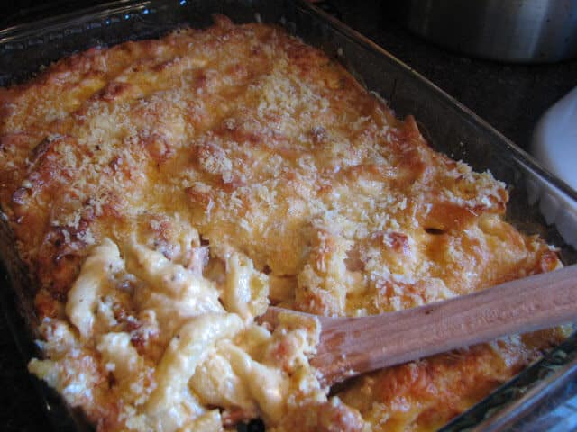 Mac and Cheese casserole with Lobster and Bacon