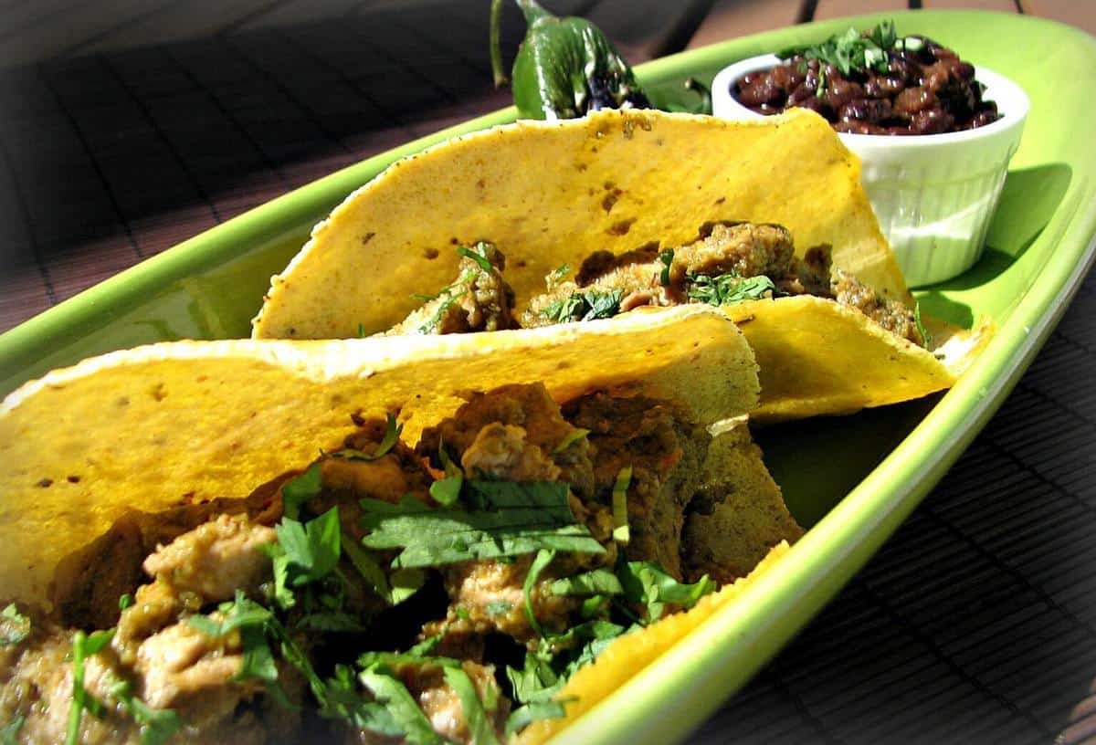 Pork Tacos, Dallas Gas Station Style and a side of Austin-Style Black Beans…