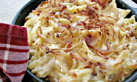 Macaroni and Cheese with Bacon and Onion