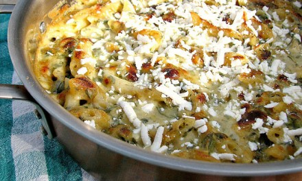 Spicy Poblano Macaroni and Cheese with Cotija Cheese
