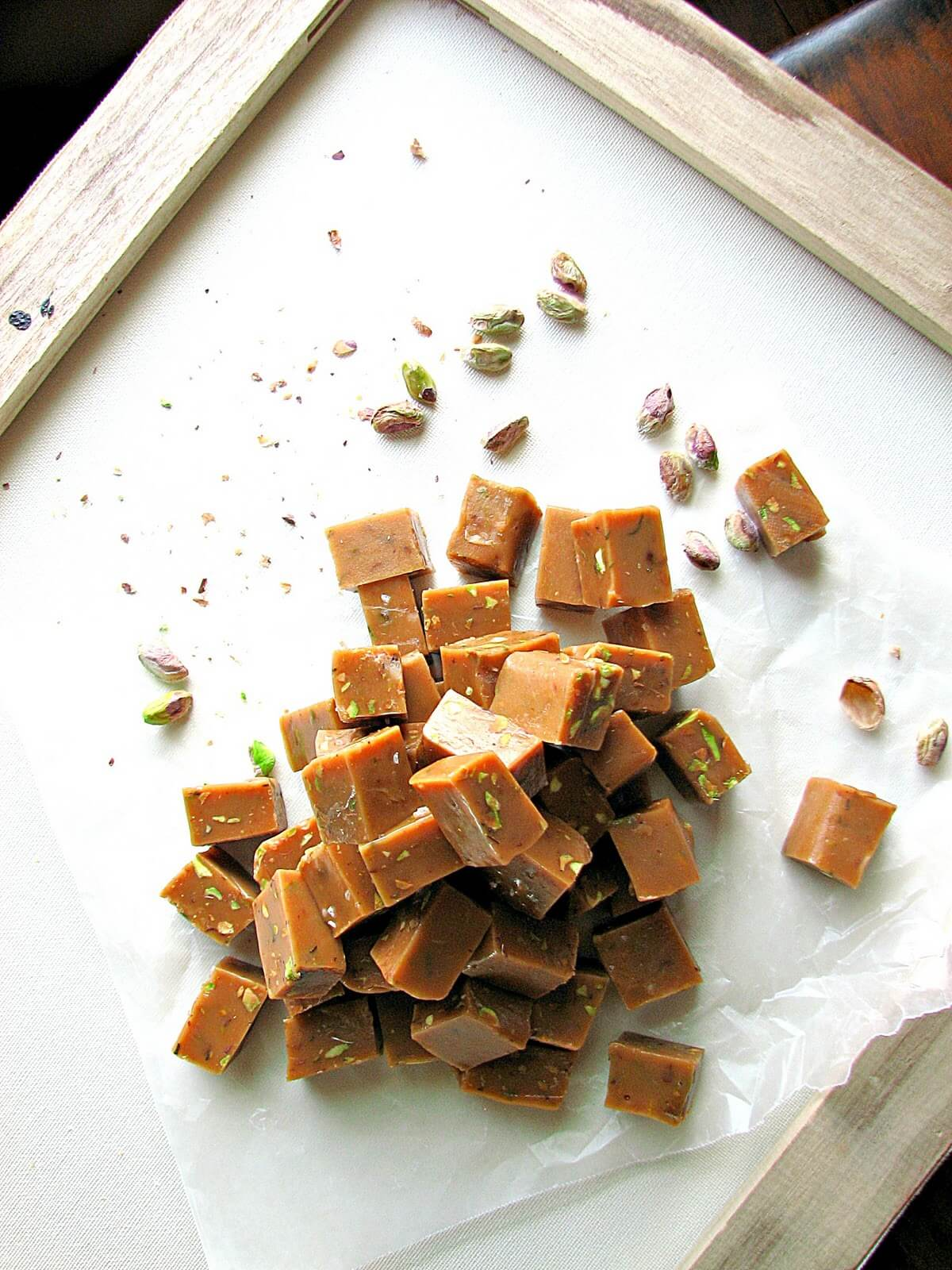 Pistachio and Rosemary Caramels…