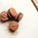 Chocolate Candy Cane Macarons…
