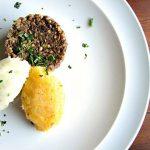 Traditional Scottish Haggis with Neeps and Tatties