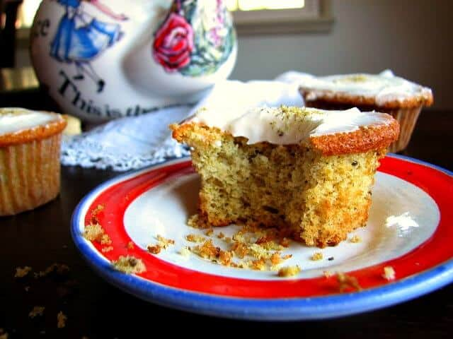 Yummy sweet tea cakes with honey frosting