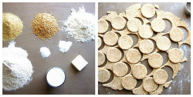Ingredients for flaxseed crackers