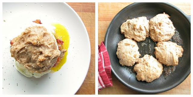 Whole wheat honey drop biscuits
