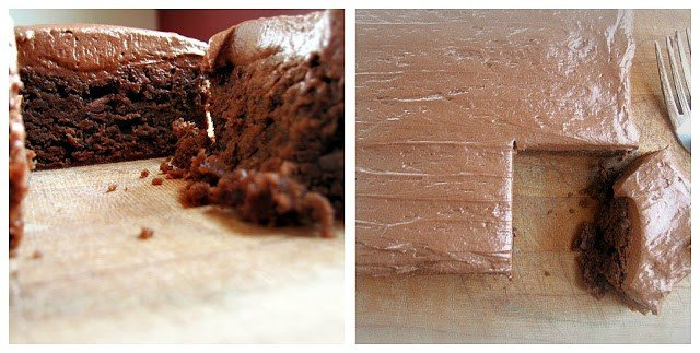 Easy and tasty, chocolate fudge brownies with frosting
