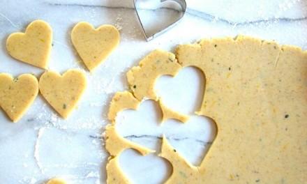 Lemon and Rosemary Shortbread Cookies