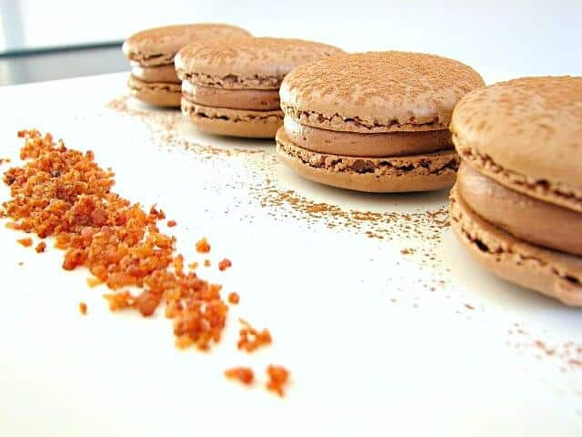 Bacon and Chocolate Peanut Butter Macarons