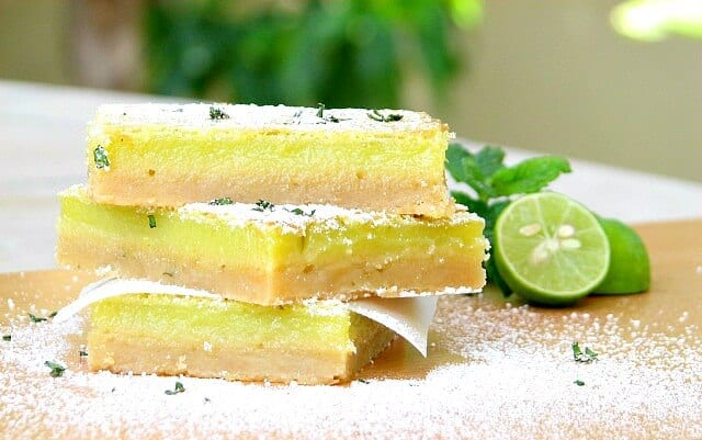 Amazing citrus key lime bars with a buttery crust