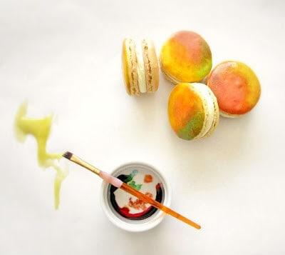 Mango Cumin French Macarons