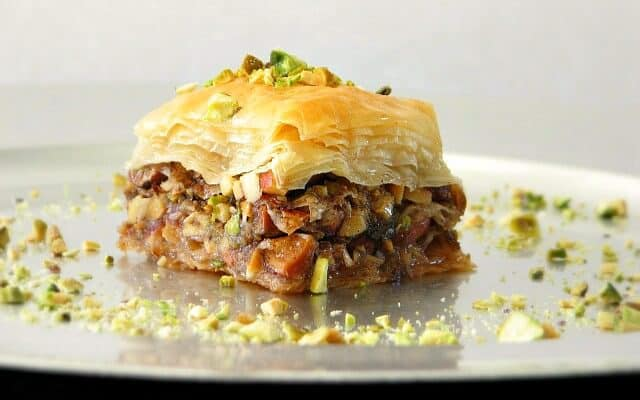 Traditional Sticky Pistachio Baklava