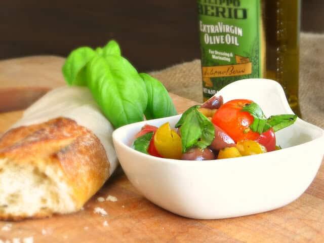 Heirloom Tomatoes and Olive Salad