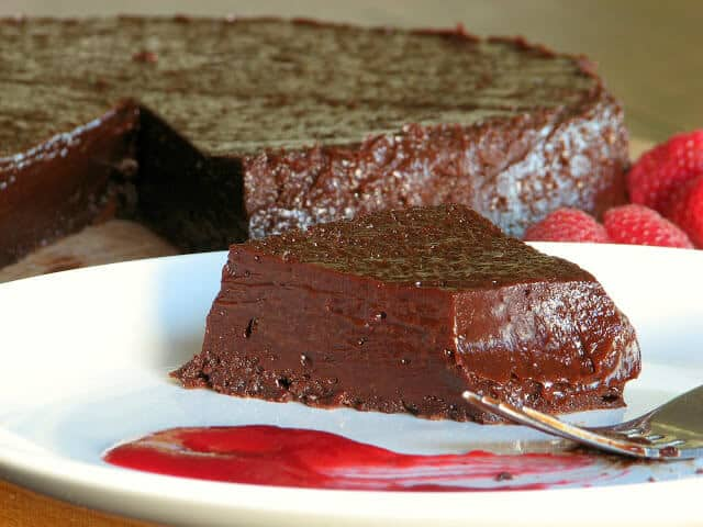 Soft and slightly gooey, this chocolate cake recipe will have you diving back in for seconds!