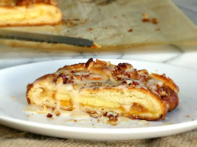 Make your own Danish pastry braid filled with apricot jelly