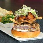 Seared Ahi Tuna Burger with Wontons