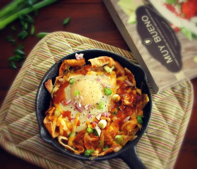 Soft eggs and spicy red sauce make this chilaquiles rojos perfect for breakfast