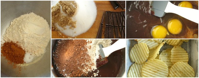 Ingredients for double chocolate brownies