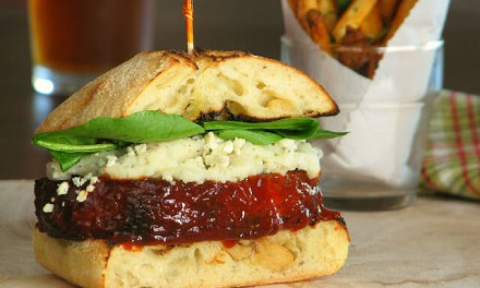 Meatloaf Sandwich with Mashed Potatoes