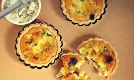 Goat cheese Mini Quiche Recipe