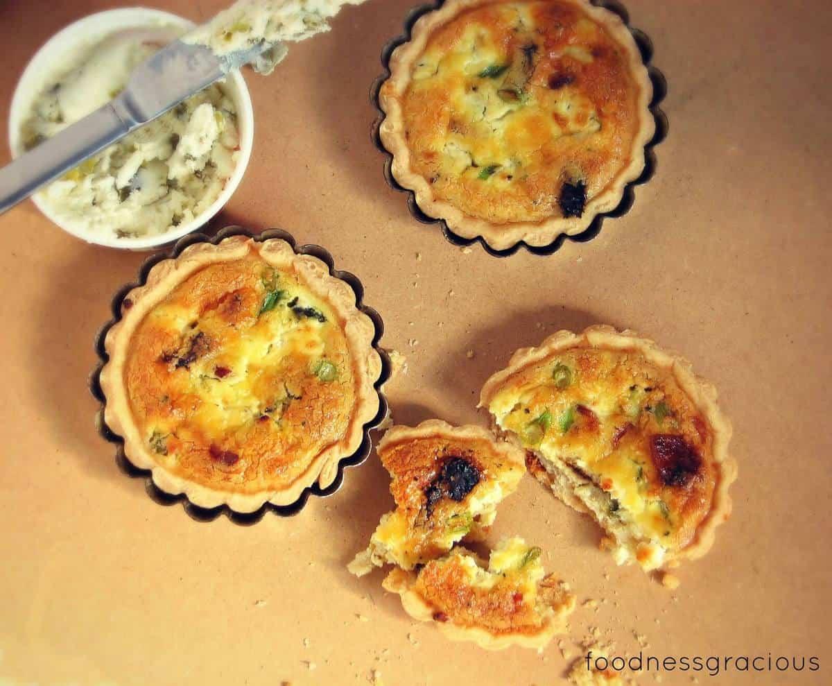 Goat cheese Mini Quiche Recipe