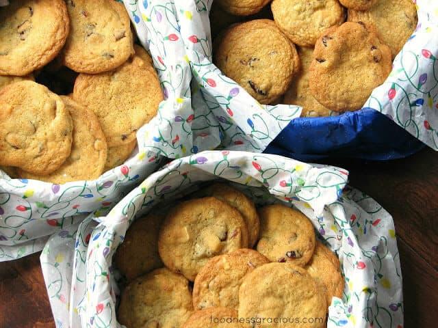 Cranberry and Orange White Chocolate cookies