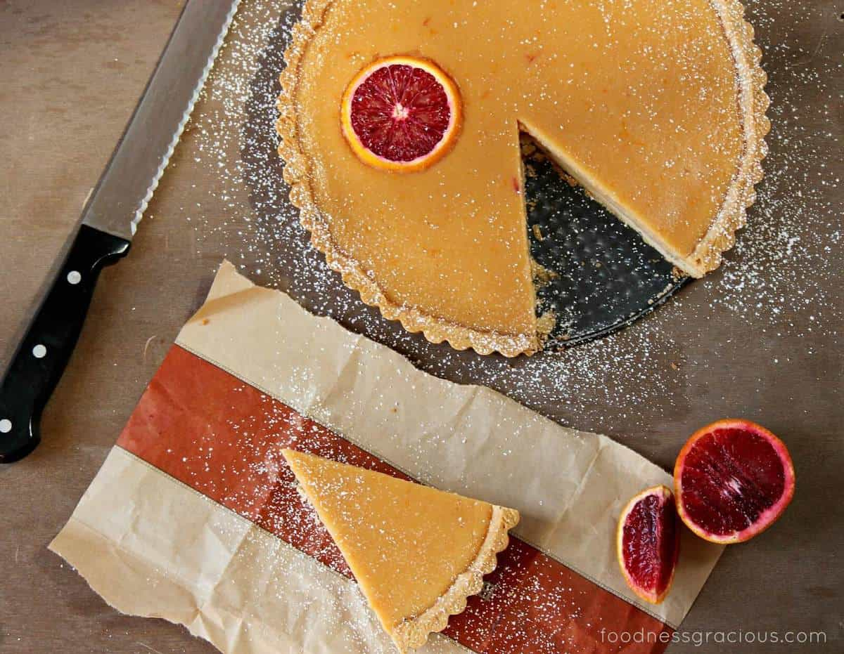 Blood Orange Curd Tart with Rosemary Butter Crust