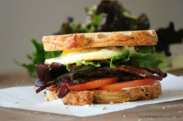 My favorite BLT sandwich with a fried egg!