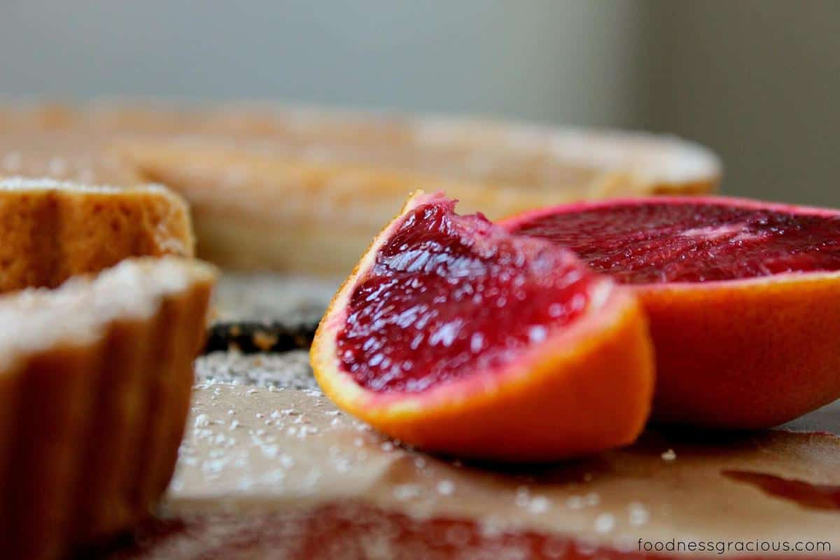 Recipe for Blood Orange Tart with Rosemary Butter Crust :: filling ...