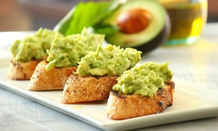 Garlic Bread with Avocado Bruschetta
