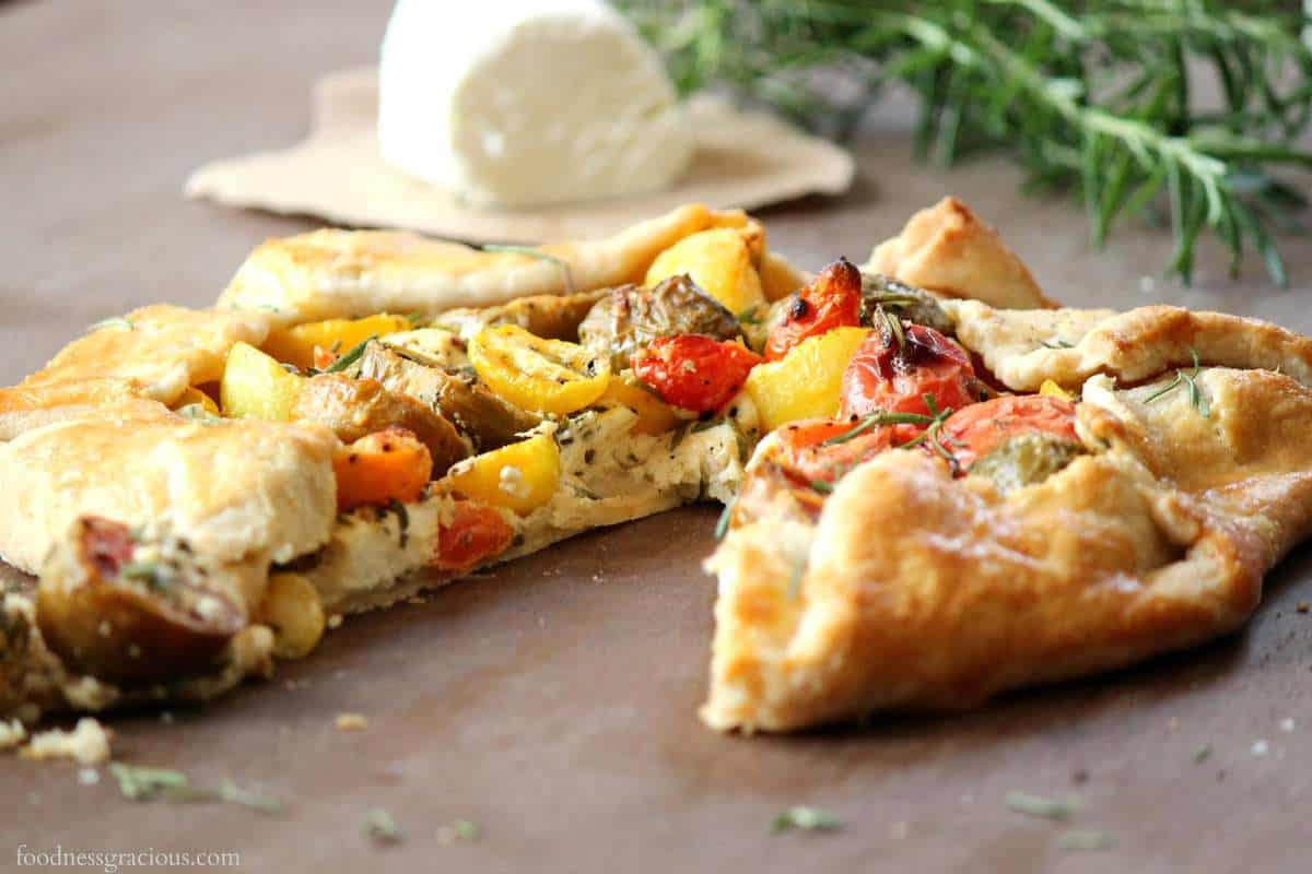 Heirloom Tomatoes and Goat Cheese Galette