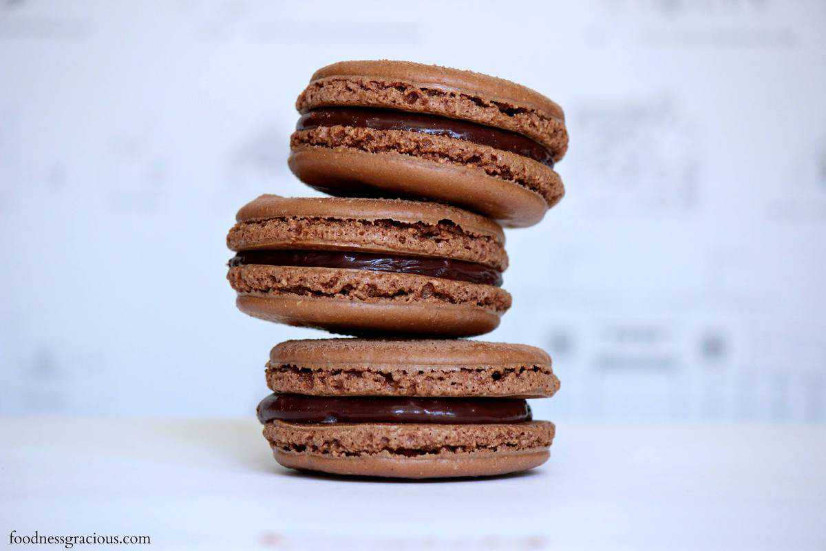 Chocolate-Filled Chocolate Macarons (The French Way) Recipes ...