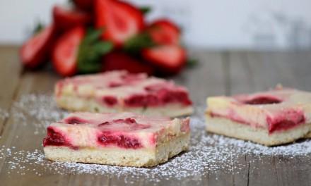 Strawberry Balsamic Goat Cheese Bars