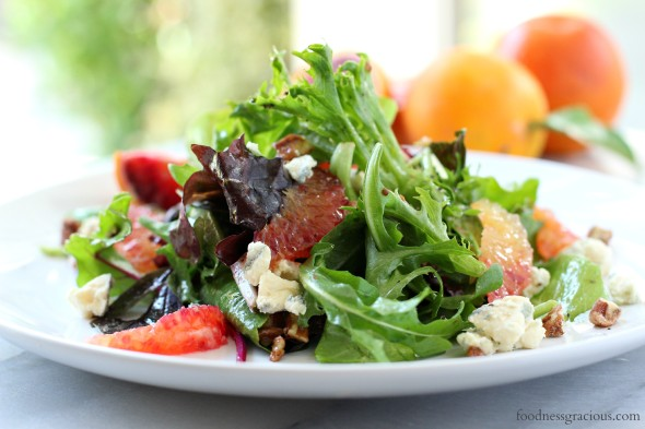 Blood orange salad with blue cheese