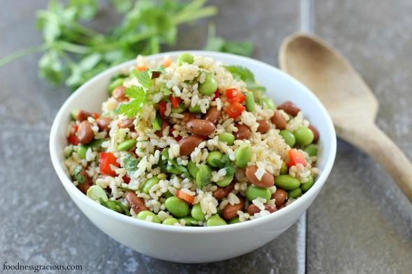 Fresh tasting edamame salad