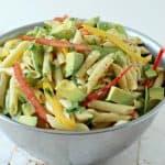 Avocado Pasta Salad with Dijon Mustard