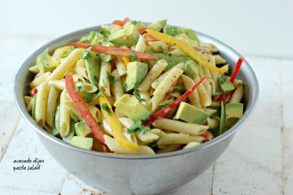 Avocado Dijon Pasta- Foodness Gracious