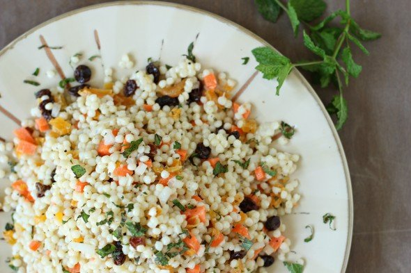 Healthy couscous salad with mint