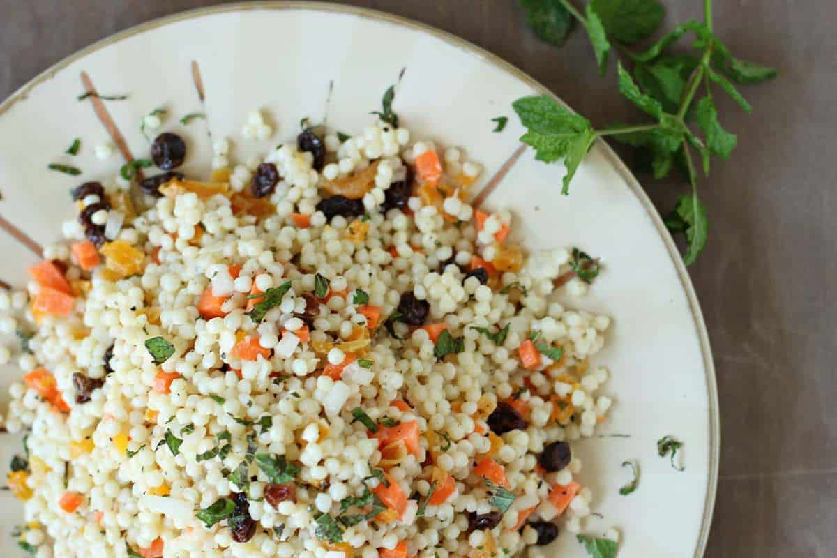 Light and Healthy Couscous Salad with Mint Yogurt