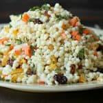 Healthy Couscous Salad and Mint Yogurt