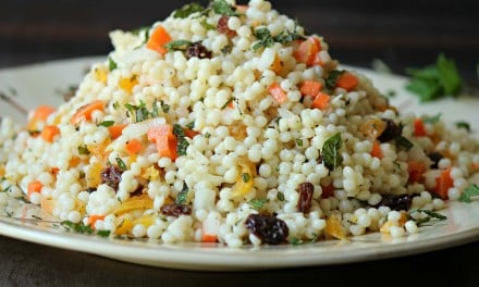 Healthy Couscous Salad and Mint Yogurt