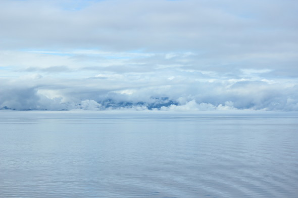Sailing through Alaska waters
