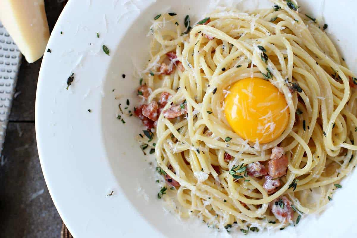 Traditional Creamy Spaghetti Carbonara
