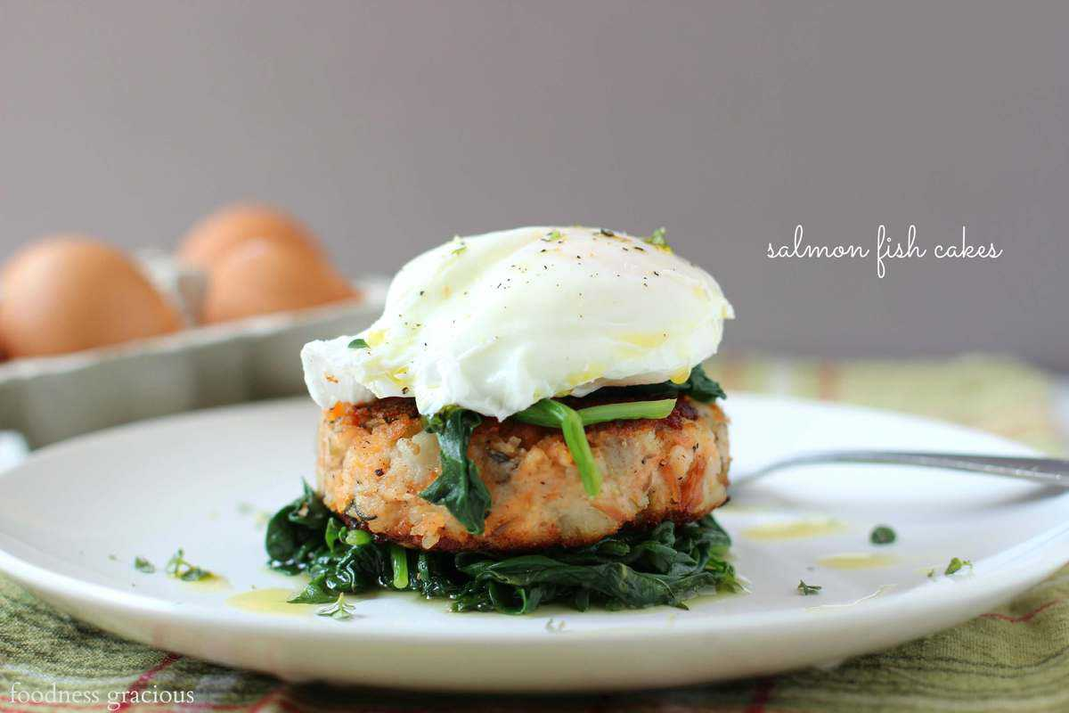 Salmon Cakes with Poached Eggs