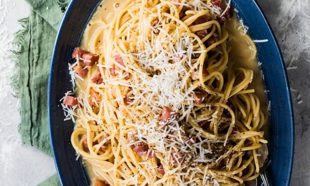 Creamy Spaghetti Carbonara Pasta