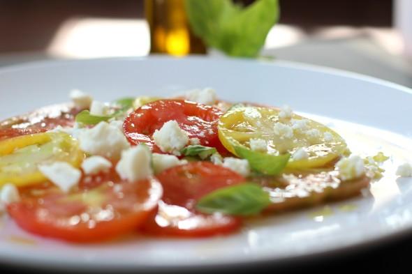 Heirloom and feta summer salad