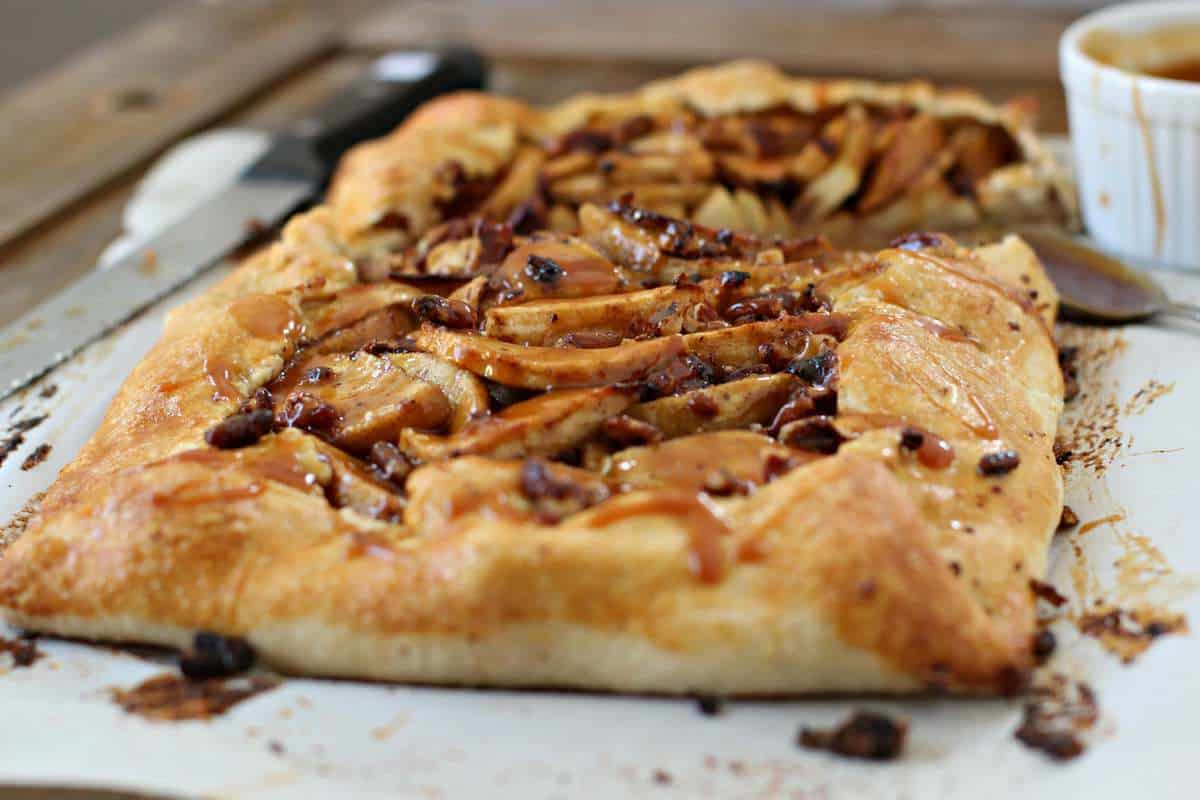 ... make an apple galette apple toffee galette caramel ized apple galette