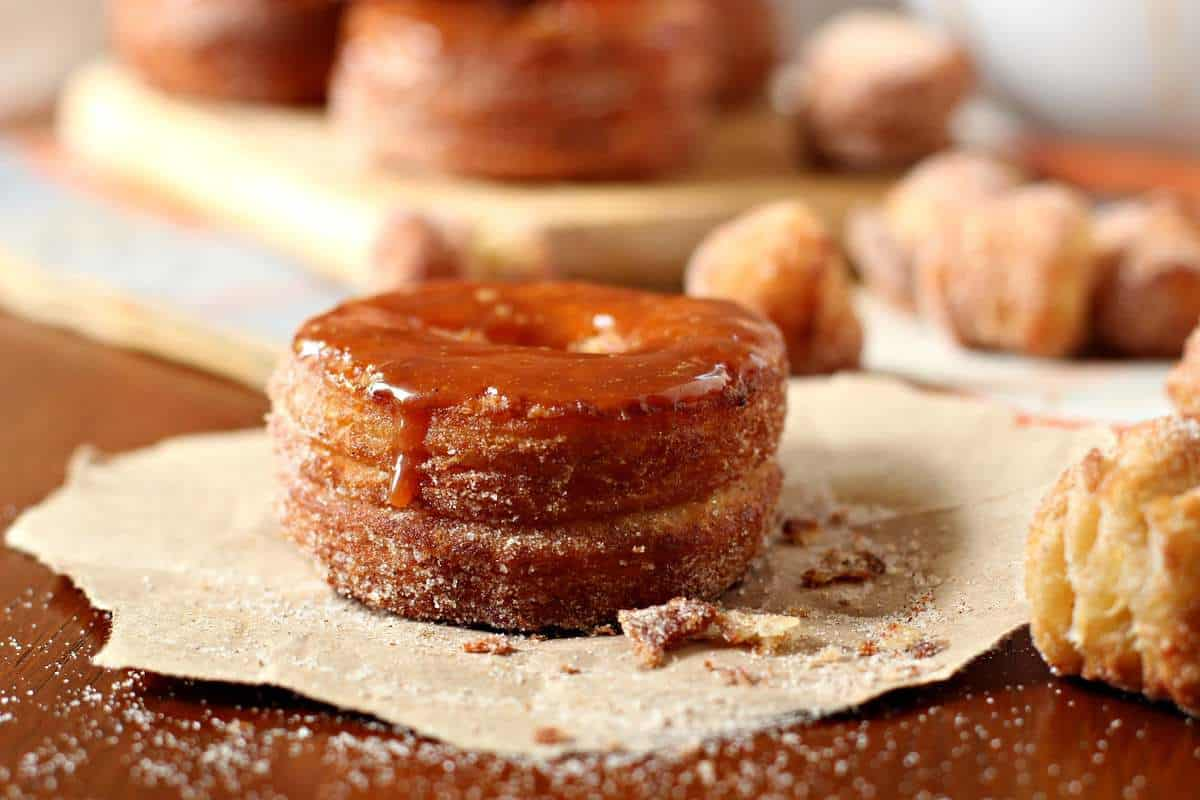 Pumpkin Spice Caramel Cronut