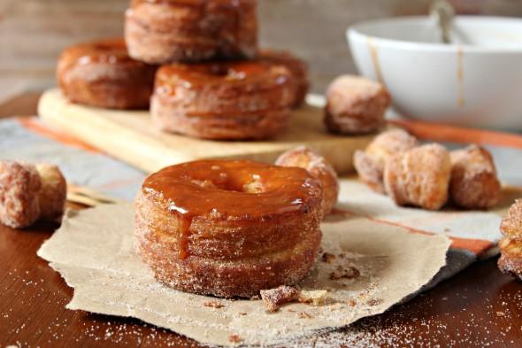 Pumpkin caramel hybrid donut